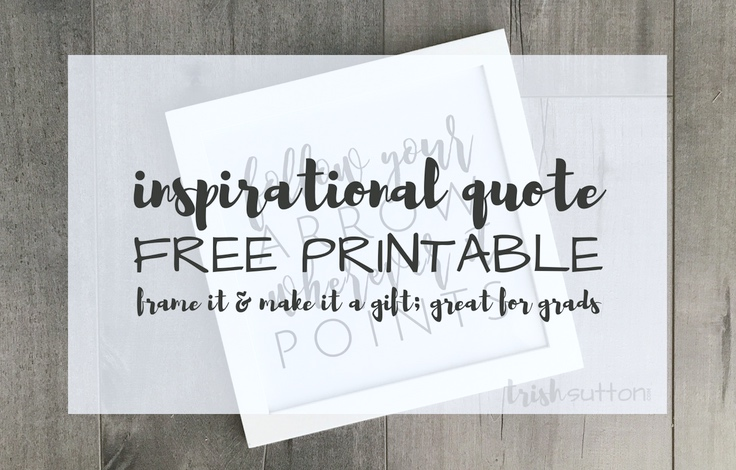 graphic regarding Free Quote Printable named Commencement Estimate Printable Party Decor and Present for