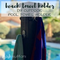 DIY Outdoor Pool Towel Dry Rack | Beach Towel Holder