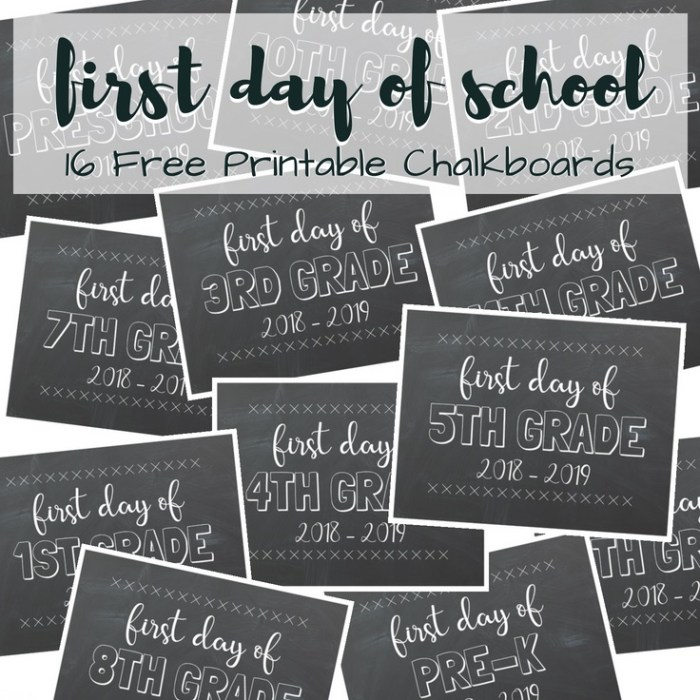 In keeping up with tradition it is that time of the year again! First Day of School Printable Chalkboards for 2018-2019. TrishSutton.com