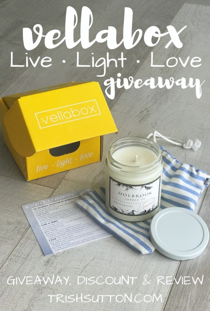 Live, light, love and bliss in a bright yellow box received monthly! Enter to win a Vellabox candle; no purchase necessary. In addition, a $5 coupon code. TrishSutton.com