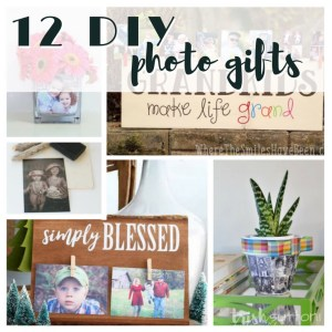 DIY Photo Gifts   Handmade Photo Crafts make lovely gifts for all occasions. Twelve personalized photo gifts created on canvas, wood, glass & more. TrishSutton.com #photogift #grandparentsday #mothersday #fathersday #christmas