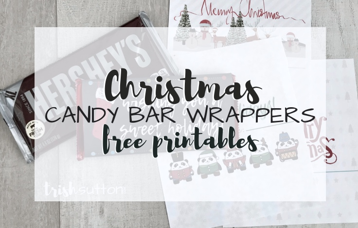 photo relating to Free Printable Candy Wrappers named Totally free Printable Sweet Bar Wrappers Easy Adorable Xmas Present
