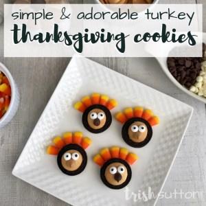 Simple Thanksgiving Cookies | Adorable Turkey OREOs; TrishSutton.com