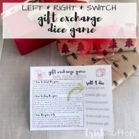 Gift Exchange Game Printable | Dice Left Right Switch