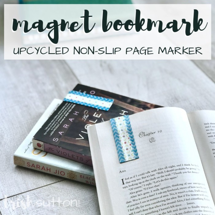 Create a non-slip magnet bookmark sure to hug book pages so tight that you never lose your place again. Magnet Bookmark | Upcycled Non-Slip Page Marker. TrishSutton.com