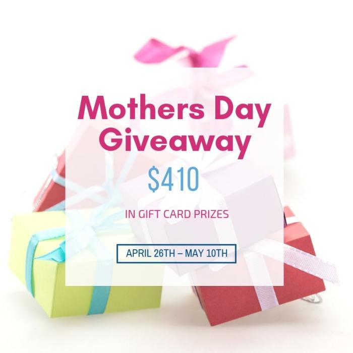 Gift Card Giveaway Mother's Day 2019; TrishSutton.com