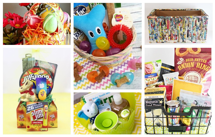 This list of Themed Easter Baskets is full of creative fillers. Is for everyone from babies to teens and from the men in your life to your dog. TrishSutton.com