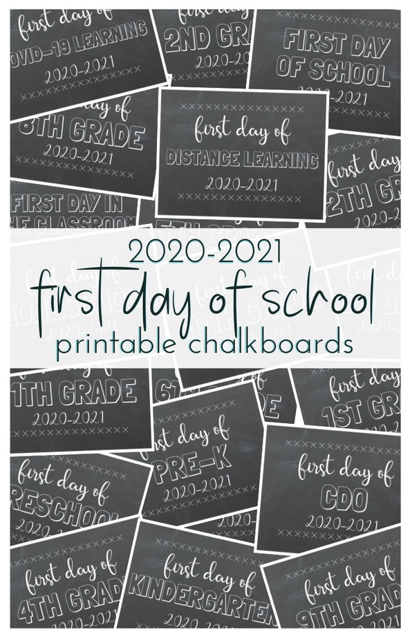 First Day of School Free Printable Chalkboards; from preschool & pre-k to 12th grade, CDO and special Covid-19 editions. Print these for the first day of school photos. TrishSutton.com
