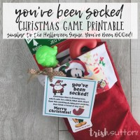 You've Been Socked Game | Christmas Free Printable
