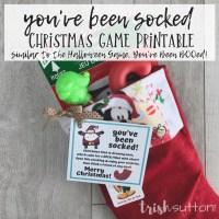 You've Been Socked Game | Christmas Free Printable
