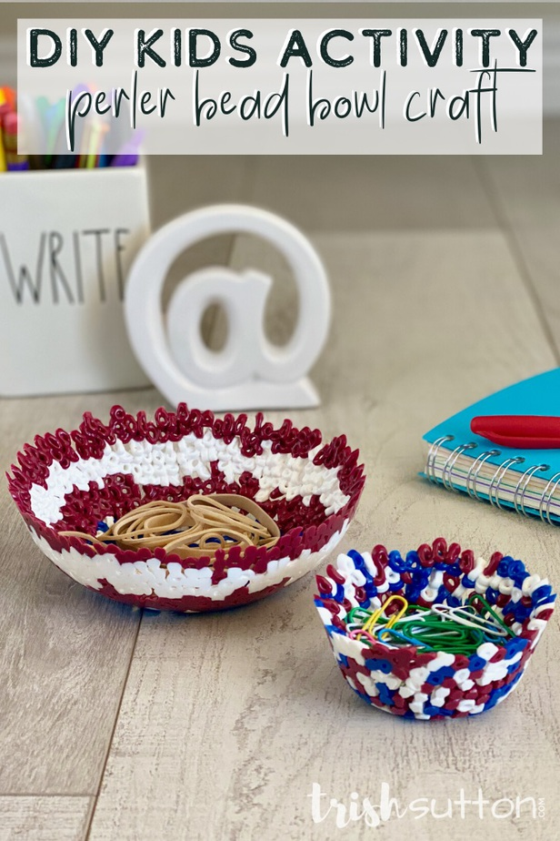 This one size fits all DIY Kids Activity is a fun way to create bowls of all sizes. Just a few supplies are needed to create this simple Perler Bead Bowl Craft.