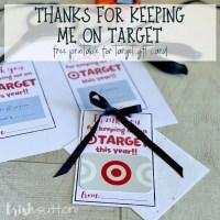 Teacher Gift Free Printable Target Gift Card Thank You