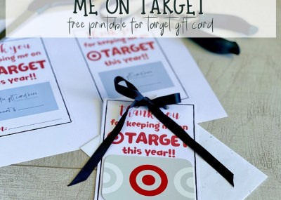 Teacher appreciation thank you note to attach to a target gift card.