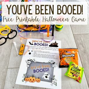 Halloween Game You've Been Booed 2020; Free Printable