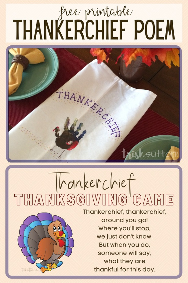 This Thankerchief Activity is a great addition to the traditional Thanksgiving game of sharing the things we are thankful for.