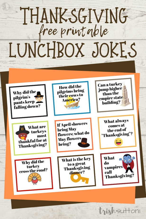 Thanksgiving Jokes | Free Printable