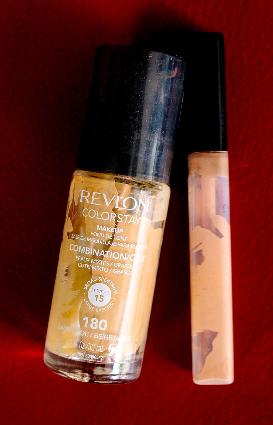 Aufgebraucht: Revlon Colorstay 180 Sand Beige, Maybelline Fit me Concealer