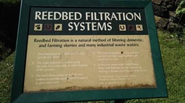 Reedbed Filtration System Sign