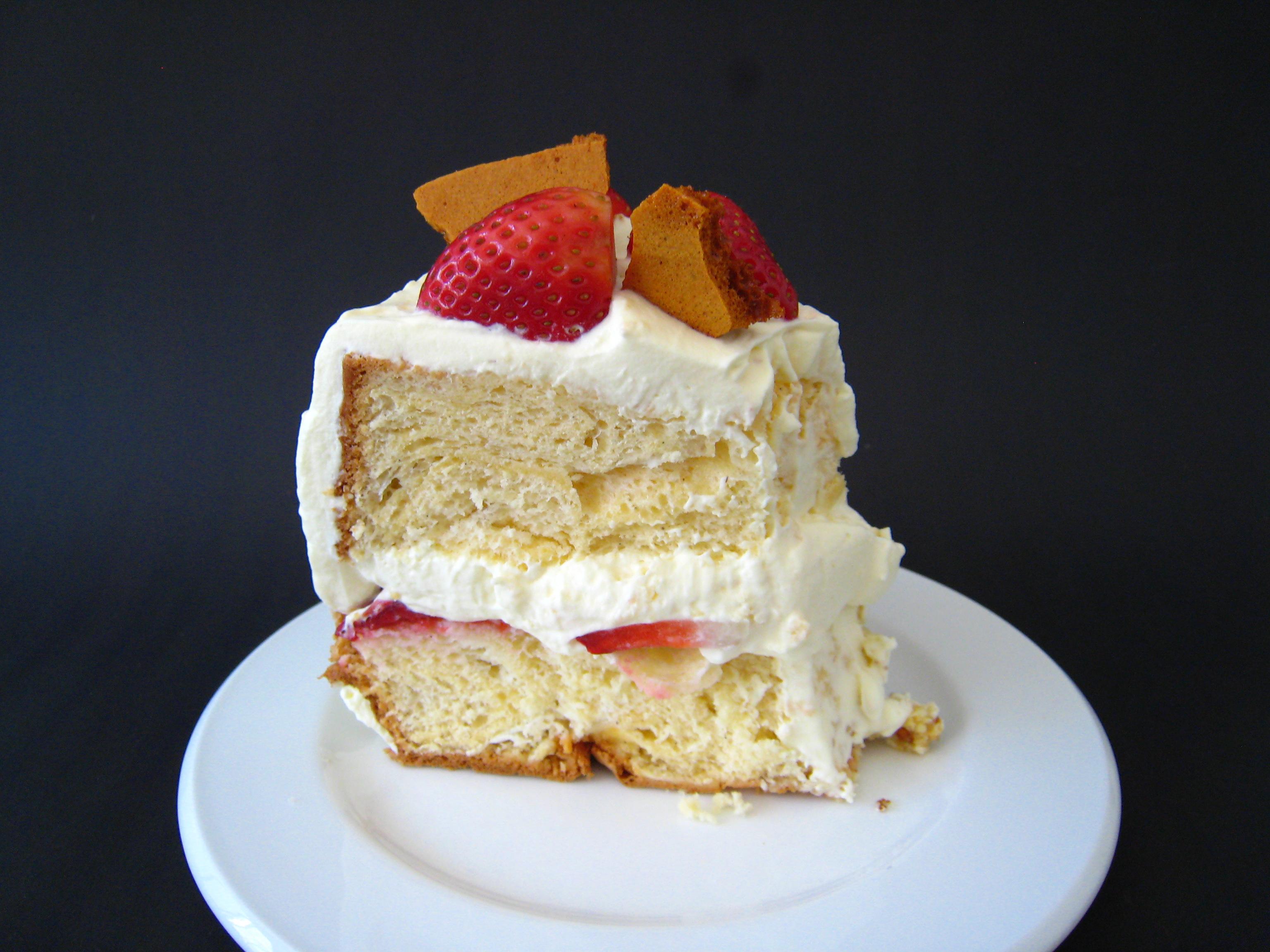 A slice of brittle torte
