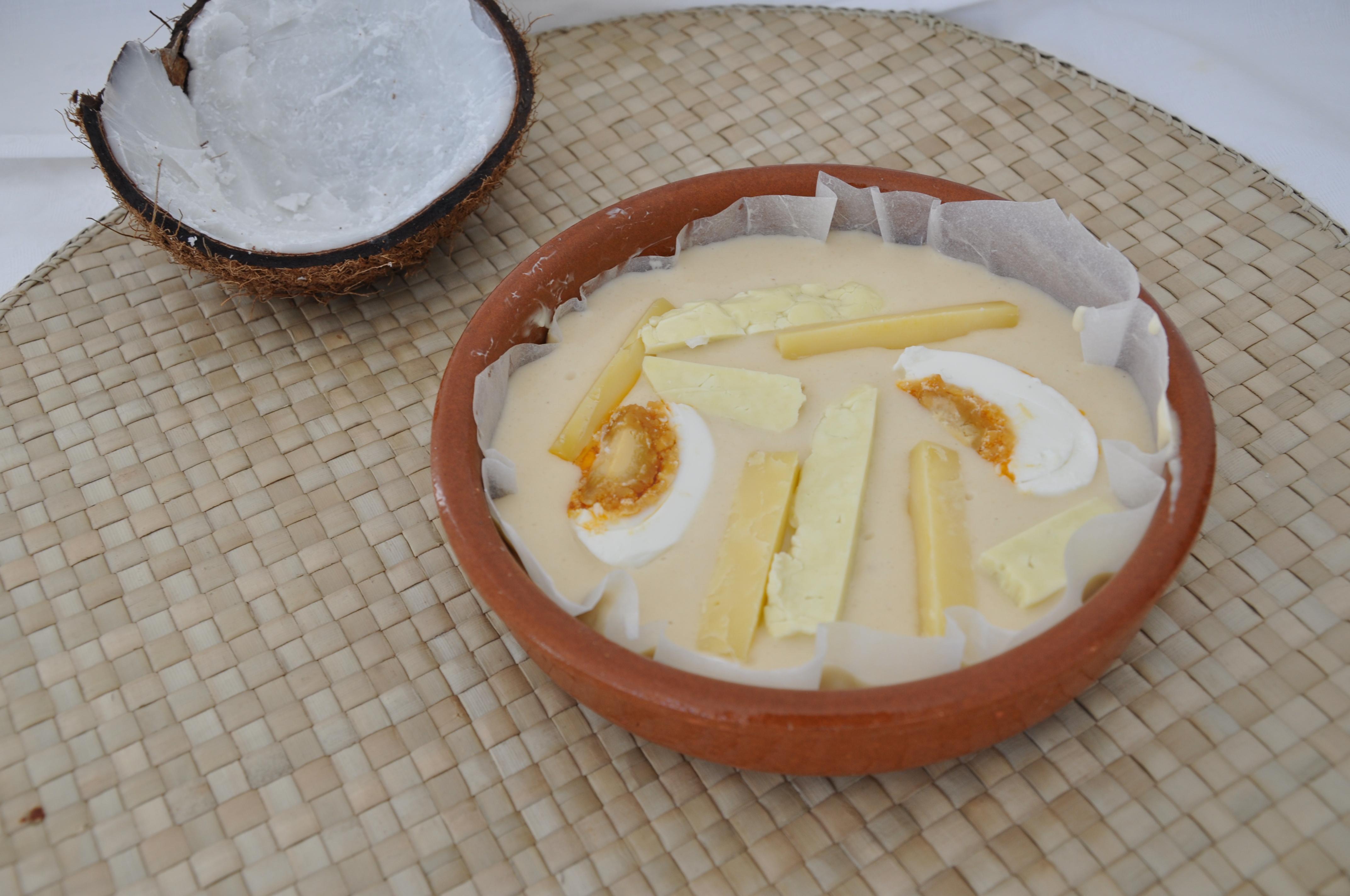 The Bibingka batter before baking