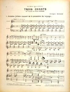 3 chants sur 3 poèmes page 1