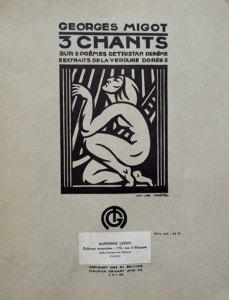 1923-3 chants sur 3 poèmes