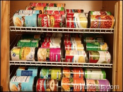 Easy DIY Removable Canned Food Racks