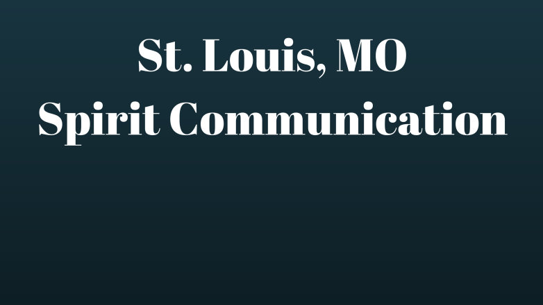 Spirit Communication 2018 Class St. Louis