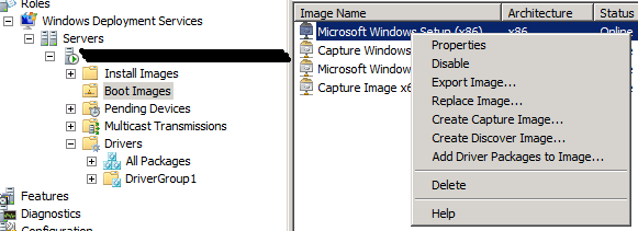 WDS AddDriverPackagesToImage1 Adding Drivers to Windows Deployment Services Boot Images