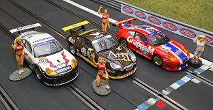 Keep your car in the slot during the slot car racing