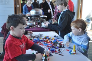 Kids at the Lego Table