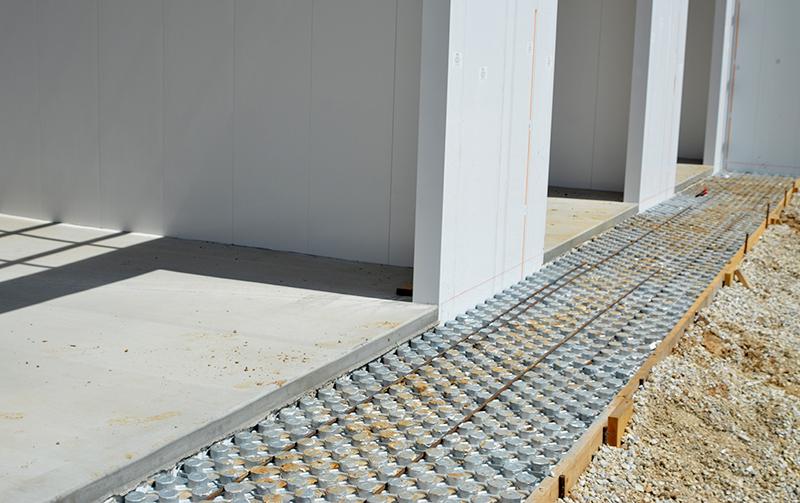 Heated sidewalks for car wash installed by Tri State Car Wash Solutions