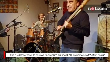 """Elio e le Storie Tese, la reunion """"in silenzio"""" sui social: """"Ci eravamo sciolti? Affari nostri"""""""