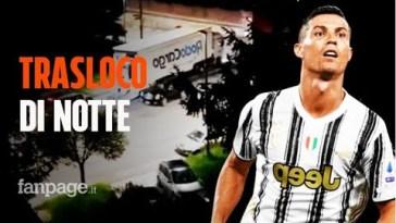 Cristiano Ronaldo trasloca le sue supercar di notte, è addio alla Juventus?