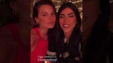 Giulia Salemi con gli amici raggiunge Dayane Mello a ristorante #prelemi