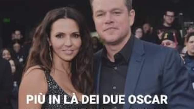 Matt Damon si è innamorato di sua moglie la prima volta che l'ha vista, in un bar, lavoran…