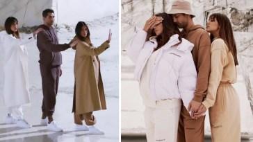 Belen, Cecilia e Jeremias Rodriguez presentano la nuova linea d'abbigliamento di famiglia