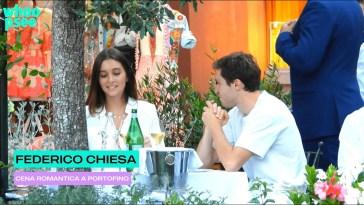 Federico Chiesa: cena romantica a Portofino