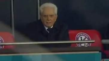 «Gol» urla Sergio Mattarella quando Bonucci mette in rete il pallone che vale il pareggio …