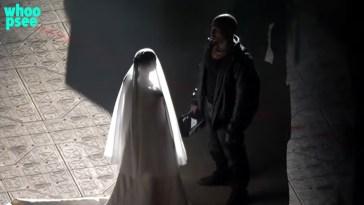 Kim Kardashian vestita da sposa per Kanye West