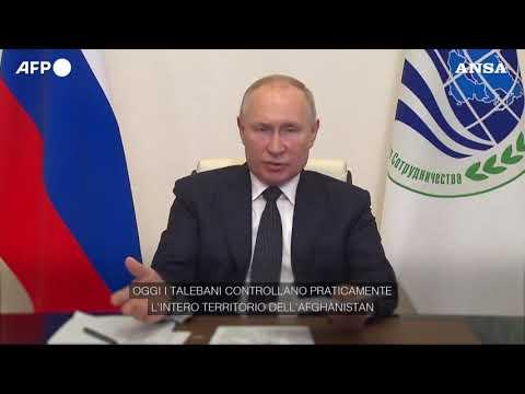 "Afghanistan, Putin: ""Talebani mantengano le promesse di pace e sicurezza"""
