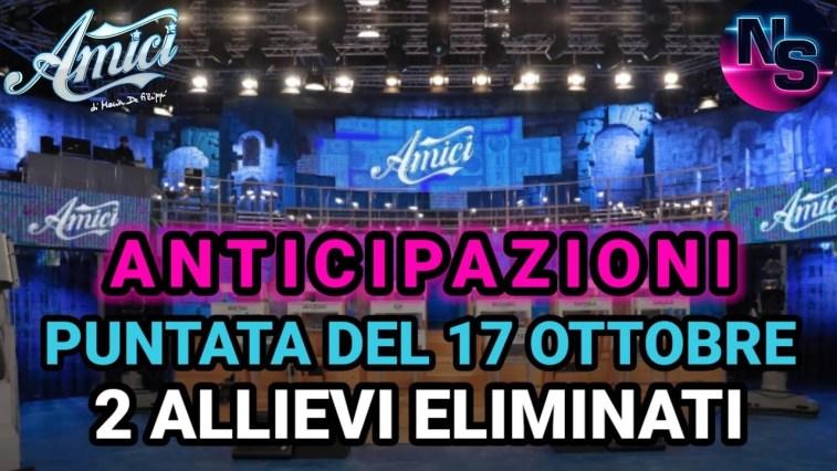 Amici di Maria De Filippi, anticipazioni quinta puntata di domenica 17 ottobre: due allievi eliminati.