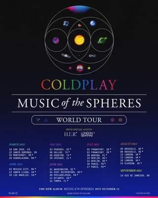 I Coldplay hanno annunciato le prime date del loro prossimo tour mondiale che partirà da m…
