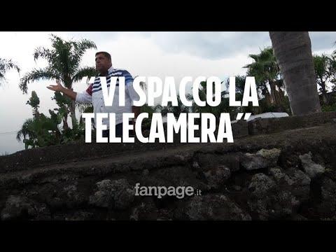 """""""La telecamera te la spacco in testa"""": minacce mentre devasta il terreno che gli è stato confiscato"""