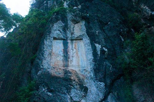 Núi có chữ Thần (Ảnh: internet)