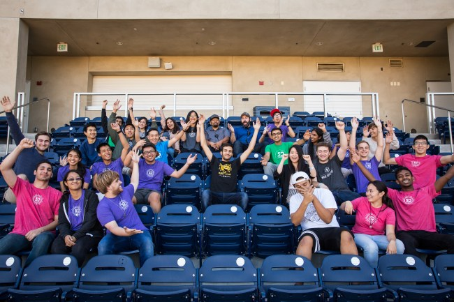 SD Hacks volunteers get hyped for another year (Annie Liou).