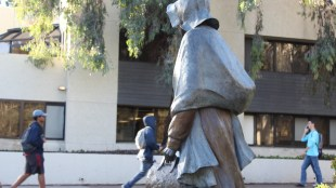 The Sojourner Truth statue in Marshall College. (AJ Peterson / The Triton)