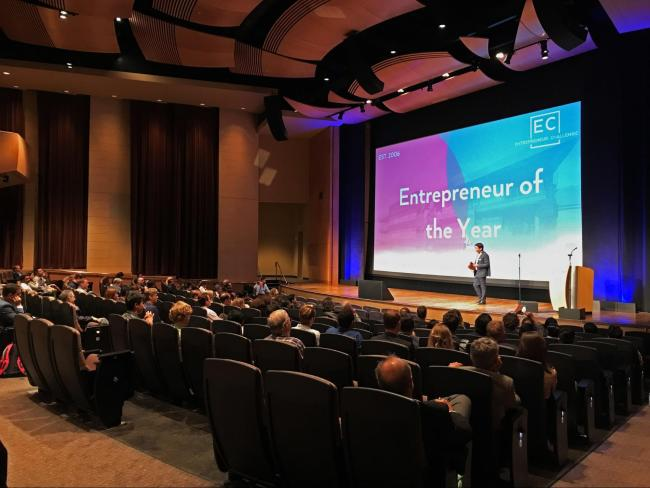 The Entrepreneur Challenge finals were hosted at Qualcomm, Inc.'s headquarters in Sorrento Valley. Rohan Grover / The Triton