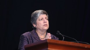 UC President Janet Napolitano. Photo courtesy of ASIS International.