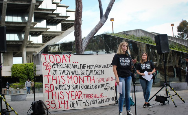 UCSD Students Participate In Nationwide Walkout Against Gun